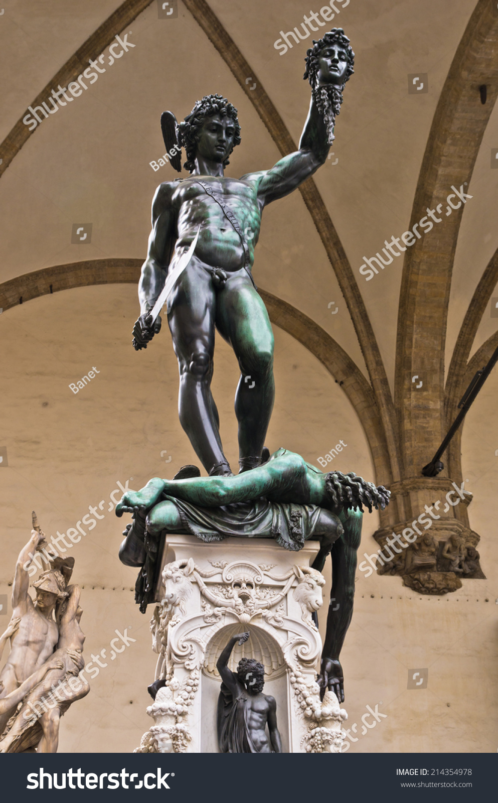 Perseus Head Medusa Sculpture Created By Stock Photo Edit