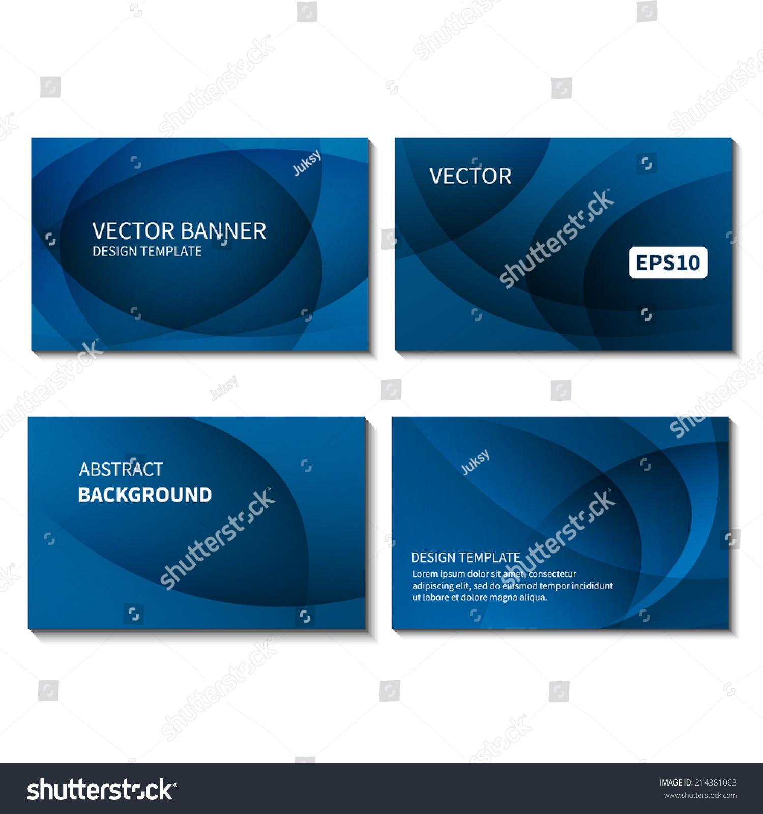 Set four business cards design template em vetor stock 214381063 set of four business cards design template business card vector banner design template corporate reheart Gallery