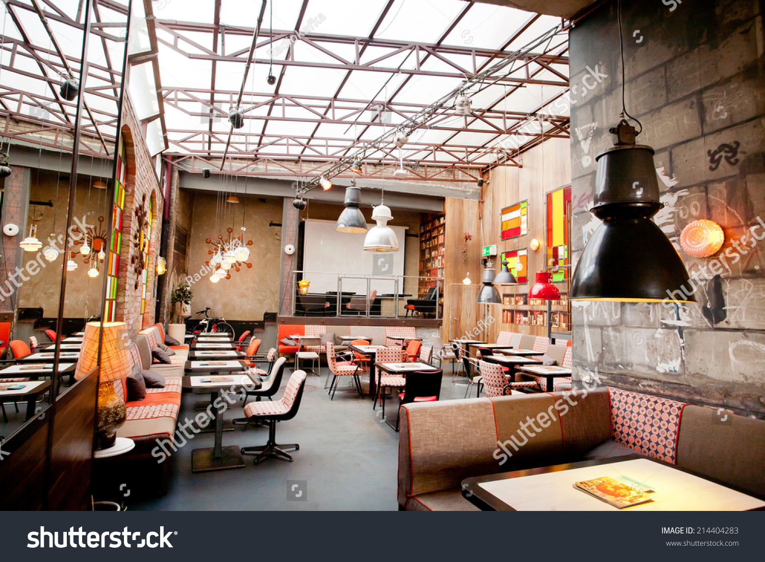 stock-photo-krakow-poland-jul-interior-design-of-a-popular-restaurant ...