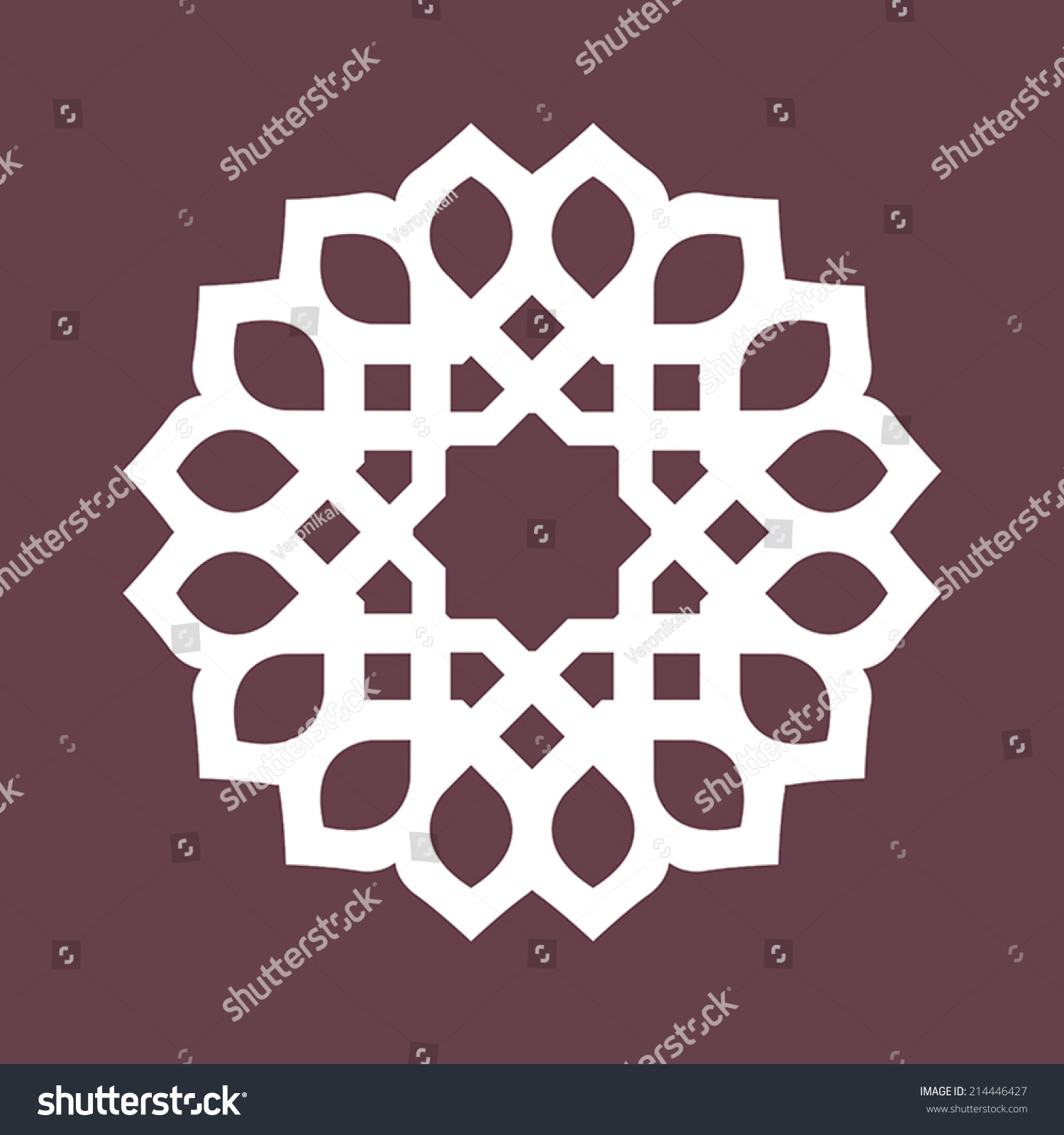 Circular Abstract Islamic Persian Arabesque Turkish Stock ...