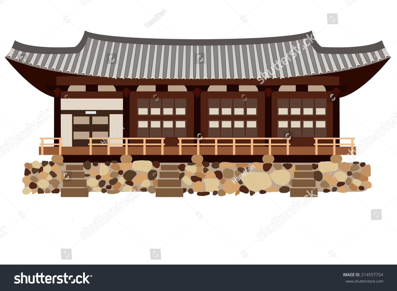 ^ radition Korean House Stock Vector 214557754 - Shutterstock