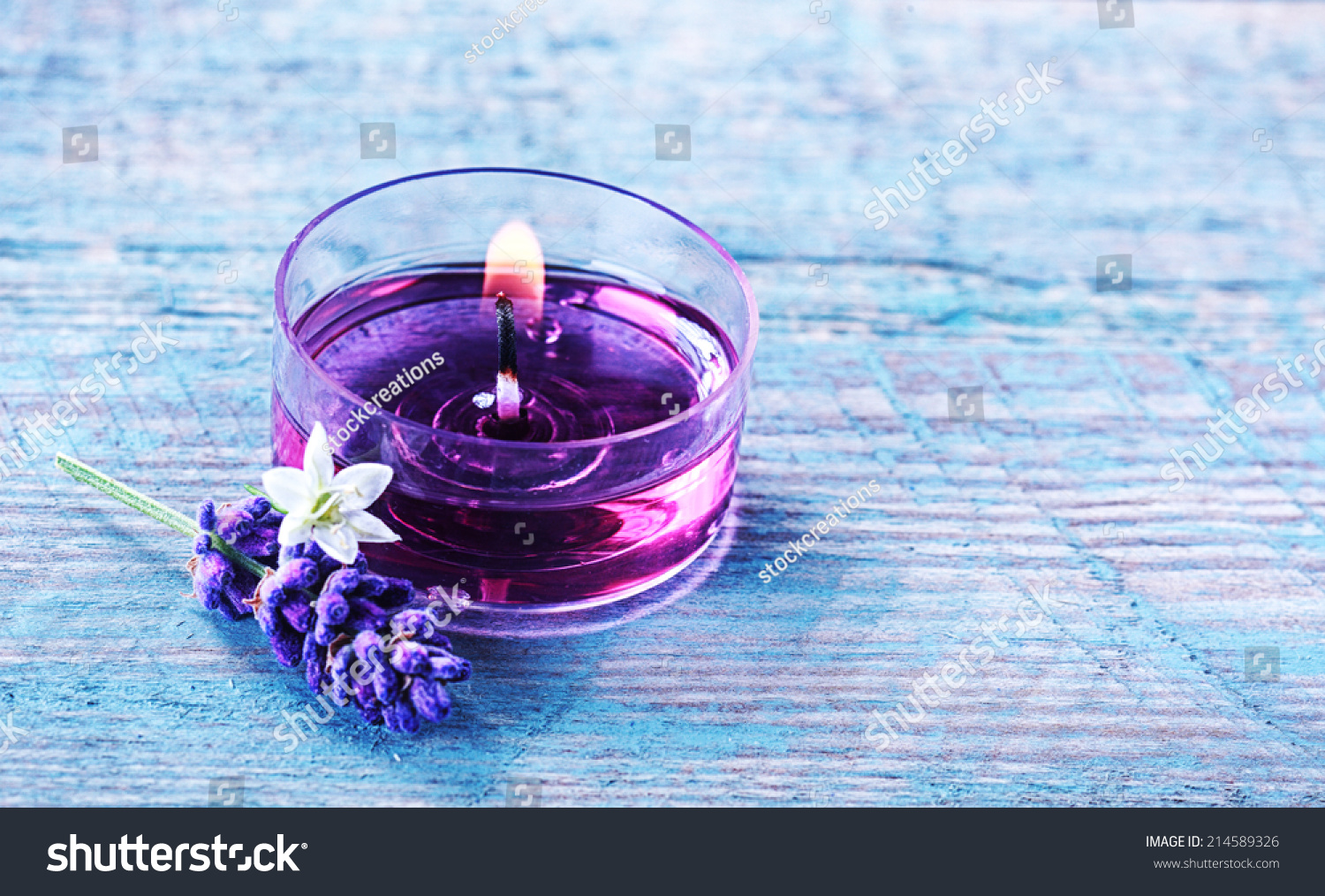 Aromatherapy Spa Background With A Sprig Of Fragrant