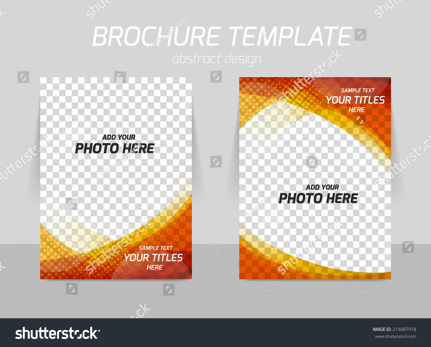 flyer template back front design red stock vector  flyer template back and front design in red and orange colors