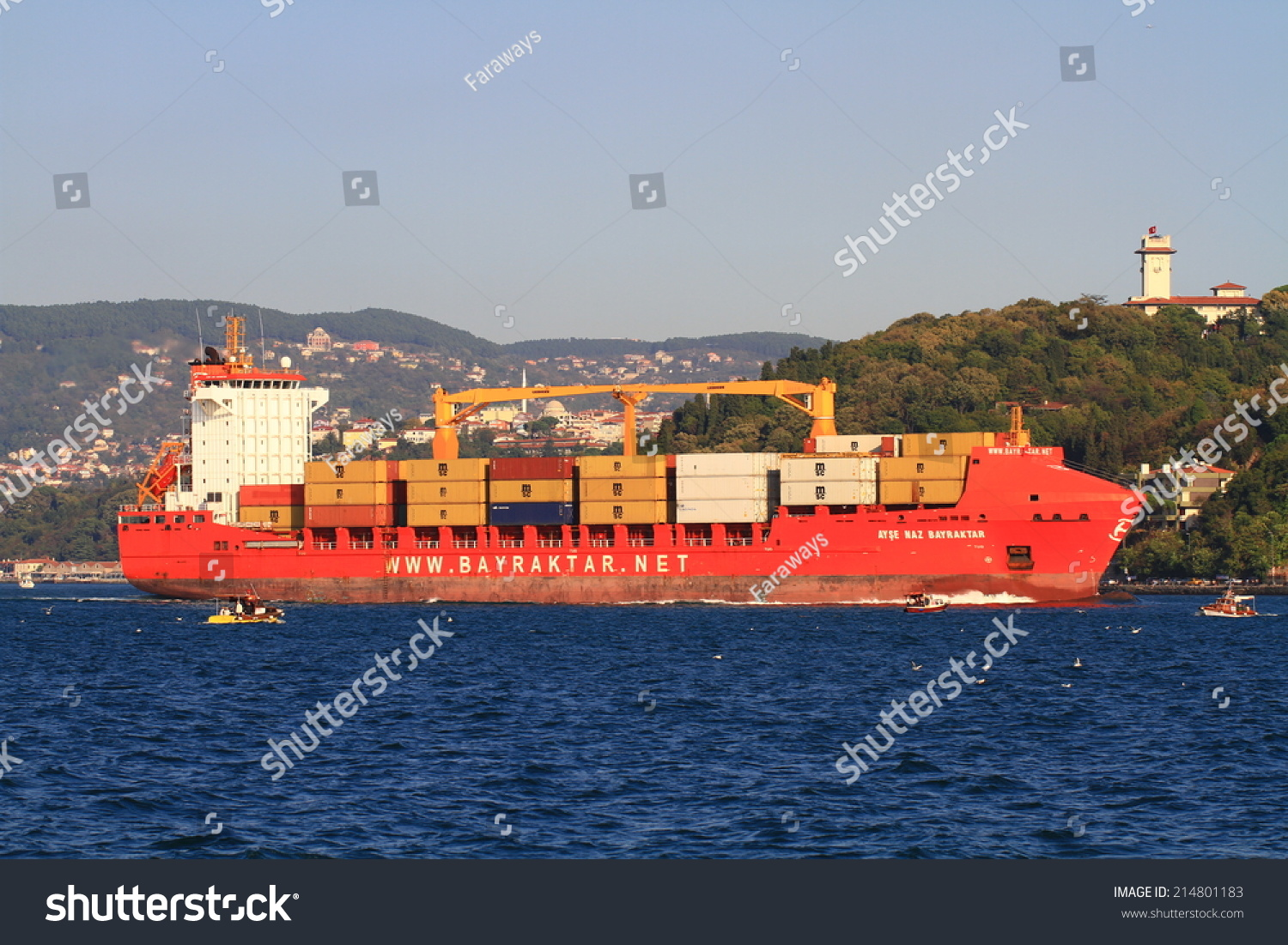 Stock photo istanbul oct container ship ayse naz bayraktar imo turkey - Istanbul Oct 26 2012 Container Ship Ayse Naz Bayraktar