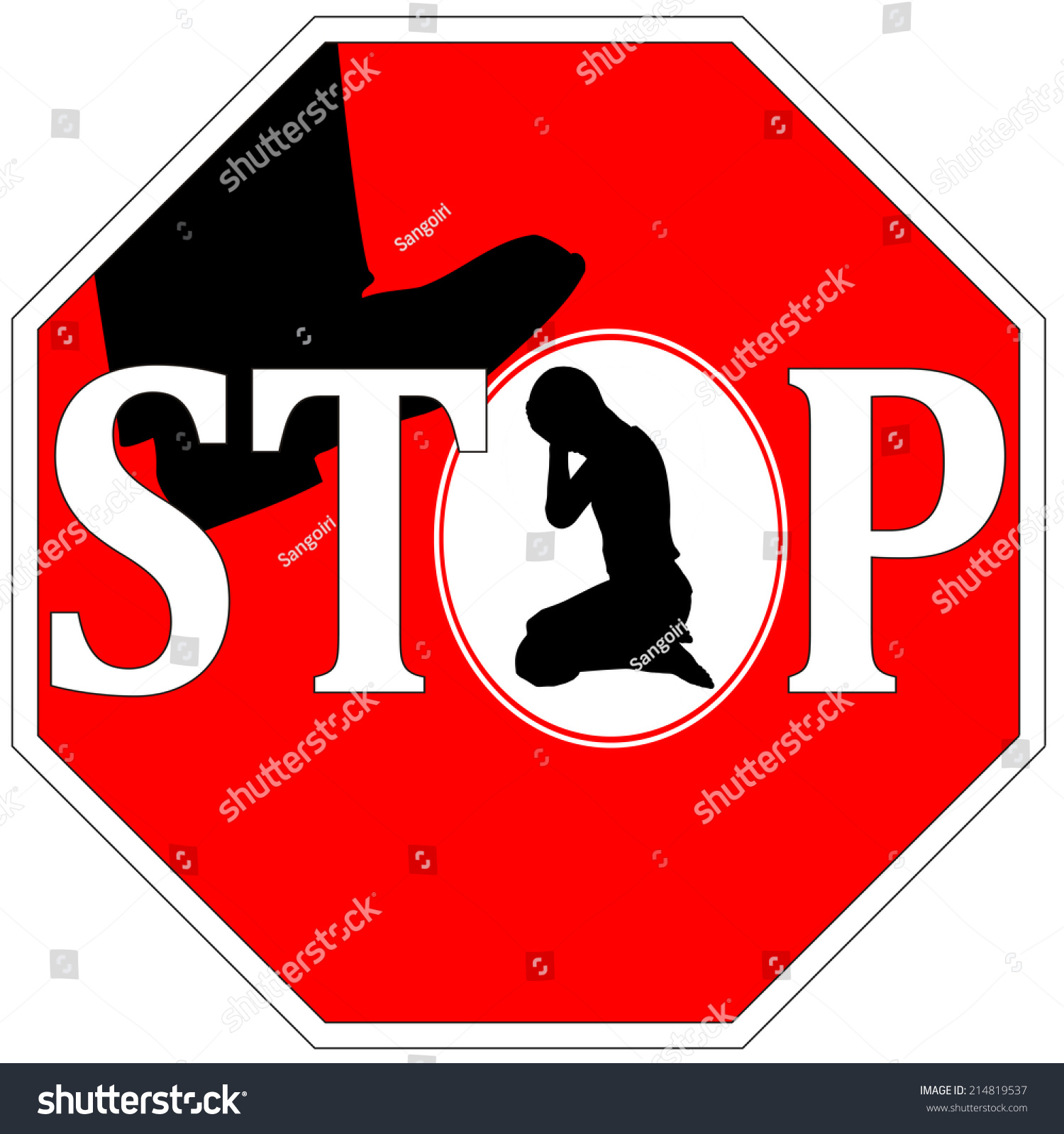 stop violence against women concept sign stock illustration 214819537