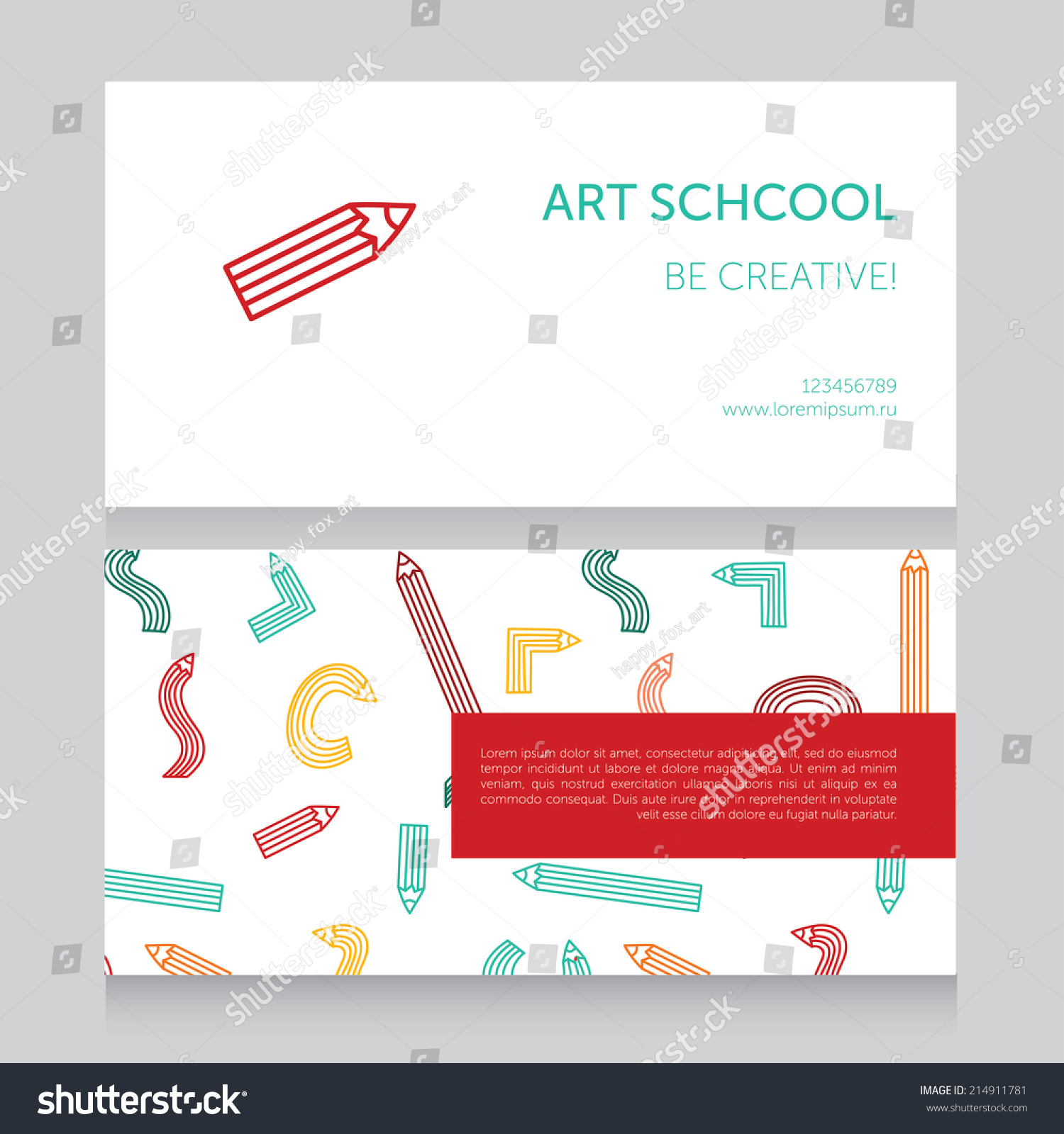 Art School Template Business Card Vector Stock Vector 214911781 ...