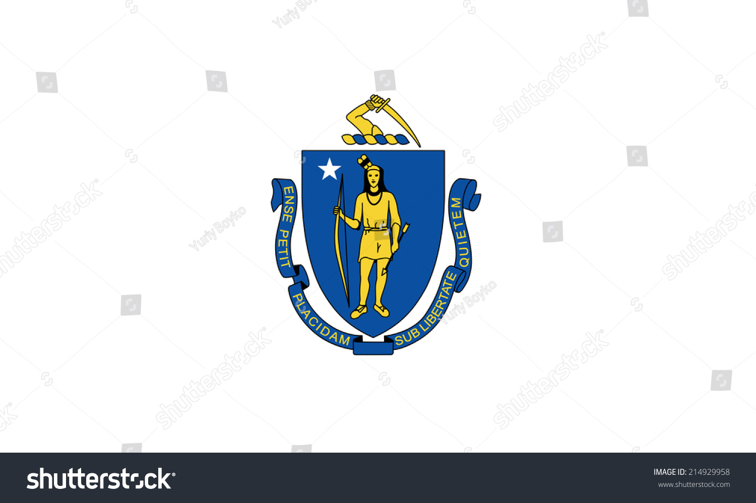 Illustrated drawing flag massachusetts state usa stock an illustrated drawing of the flag of massachusetts state usa buycottarizona