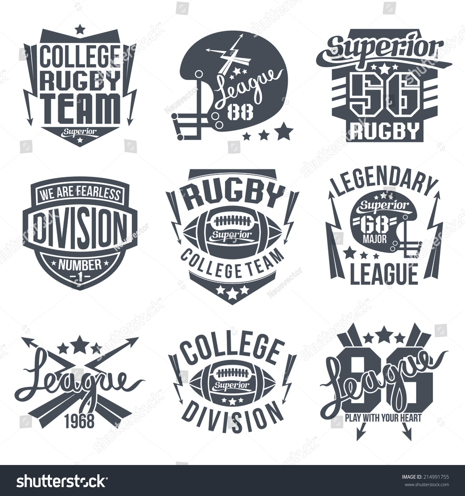 Shirt design graphics - College Rugby Team Emblem Graphic Design For T Shirt Black Print On White Background