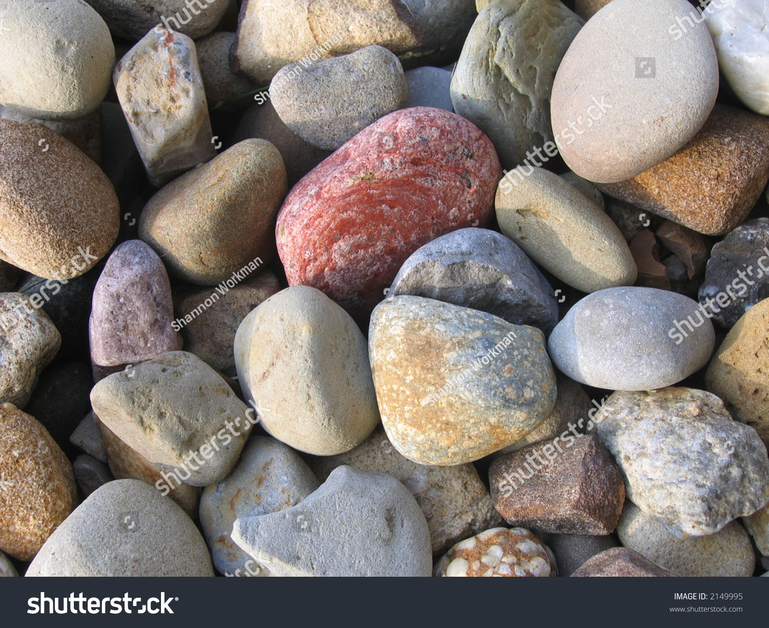 a bed of colorful landscaping rocks of many shapes and sizes