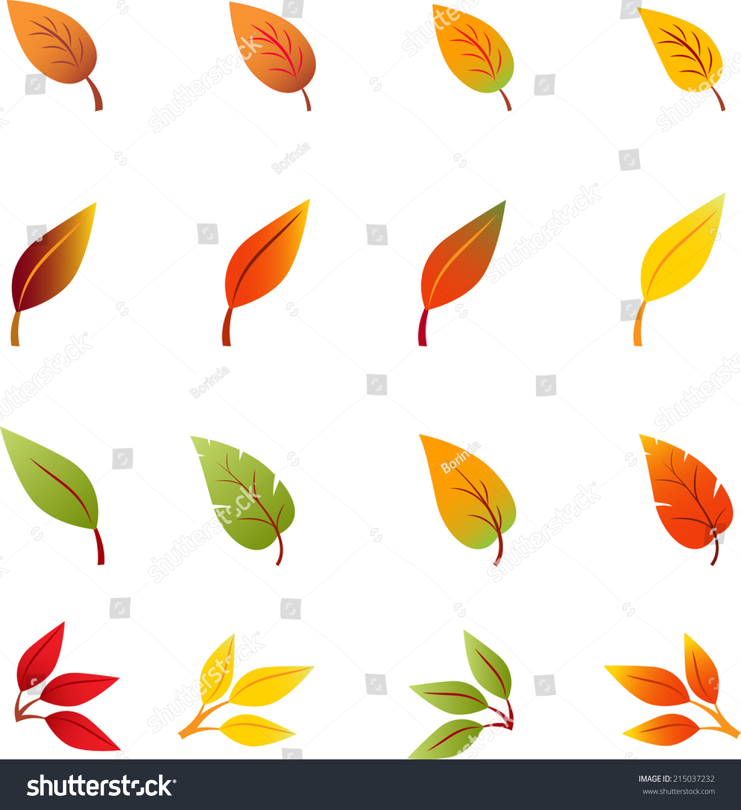 fall leaves autumn leaves leaves vectors stock vector 215037232 rh shutterstock com fall leaves vector border fall leaves vector png