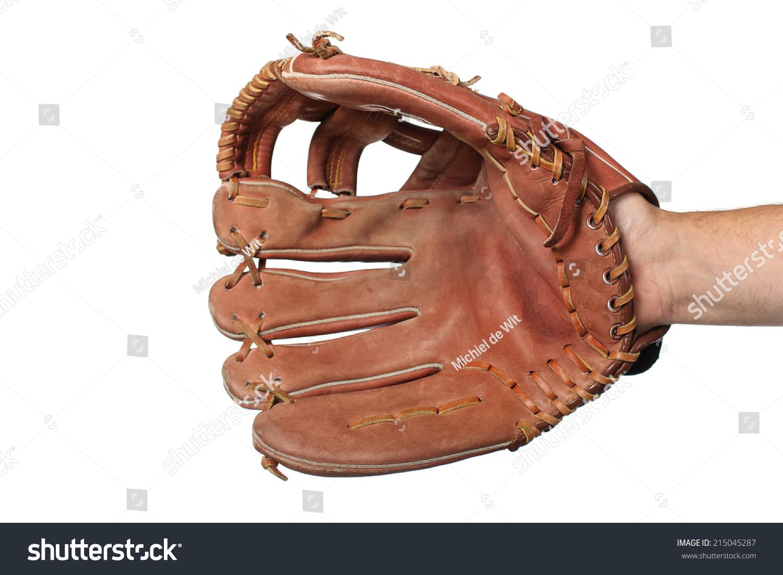 Baseball glove on a white background #215045287