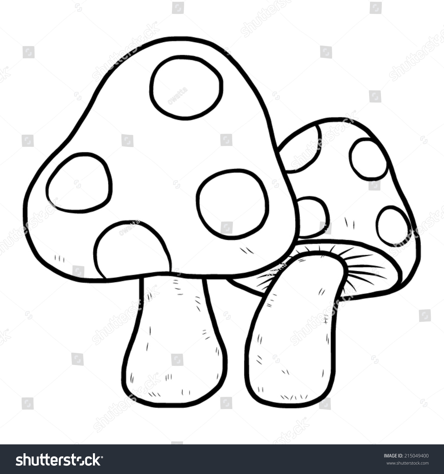 Mushroom Clipart Black And White