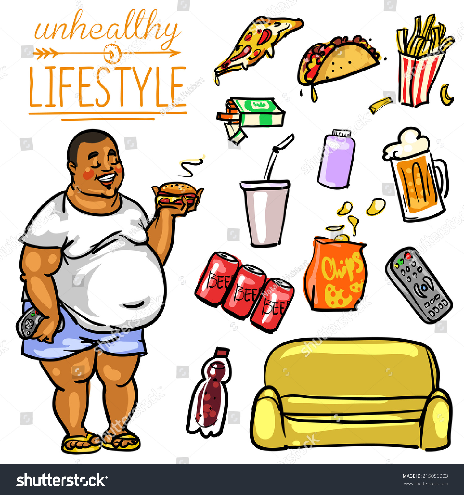 unhealthy lifestyle images