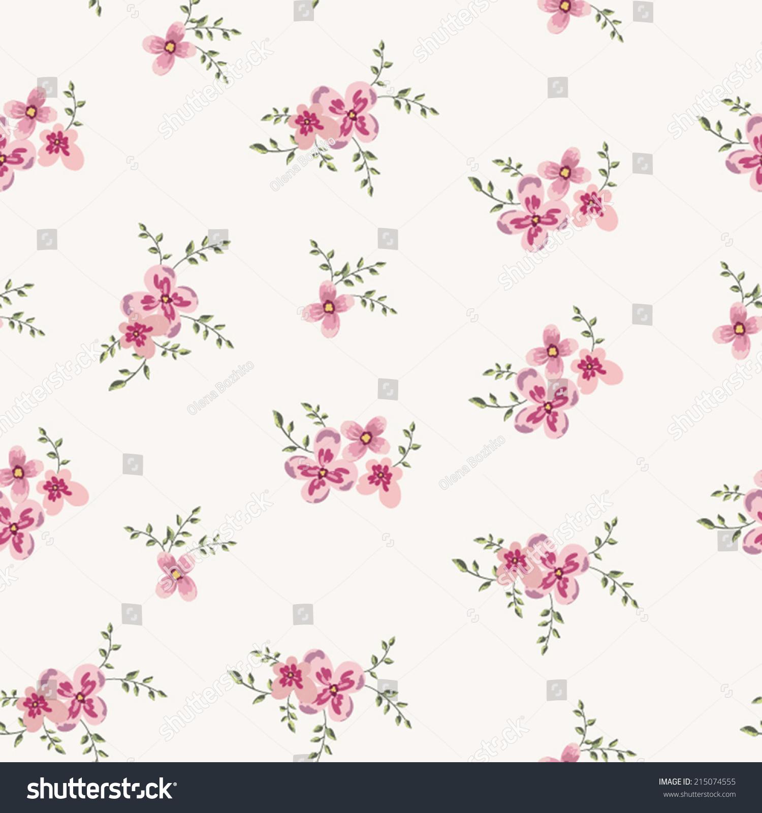 Cute little pink flowers seamless pattern stock vector royalty free cute little pink flowers seamless pattern background vector mightylinksfo