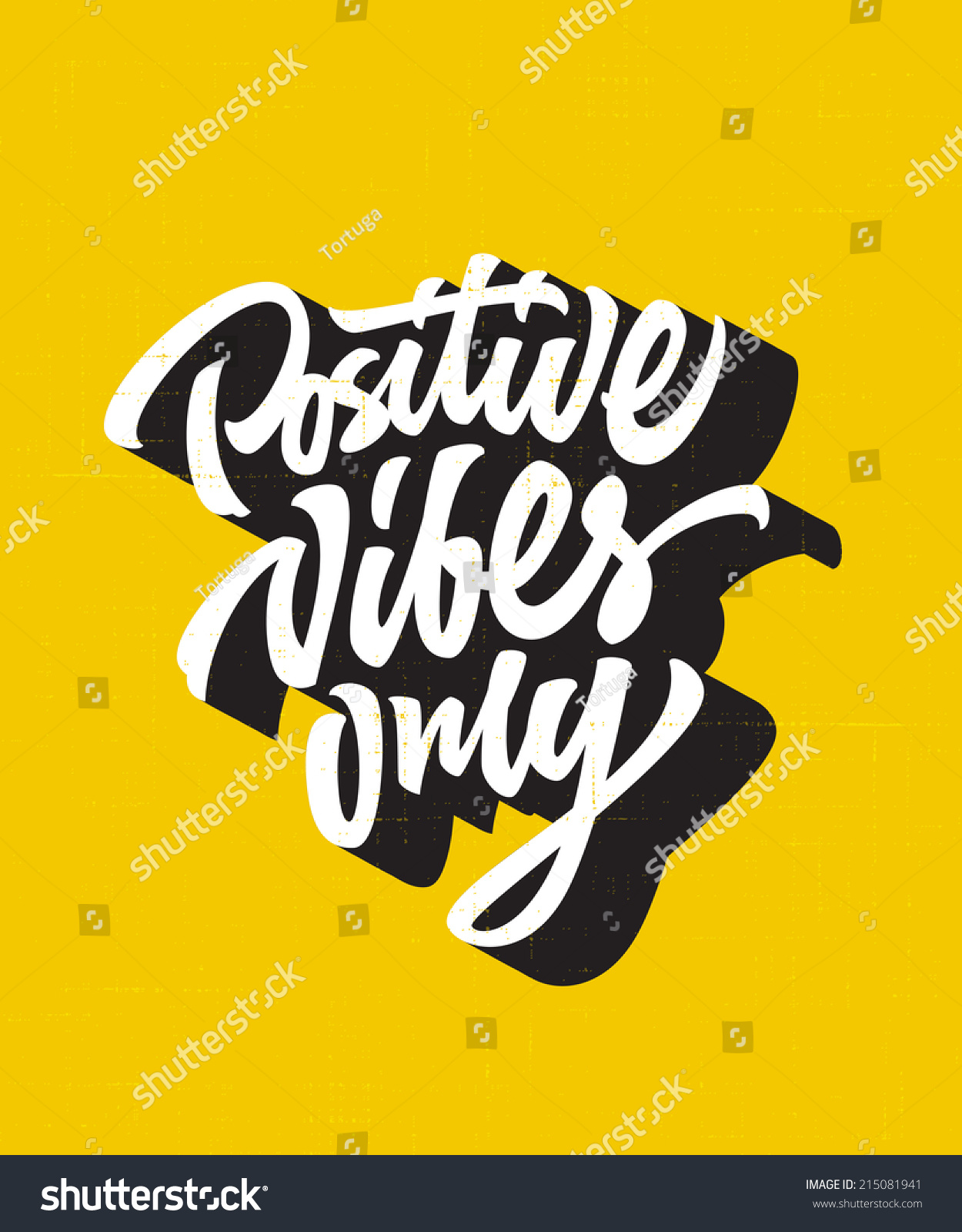 positive vibes only custom hand lettering apparel t shirt print design typographic composition phrase