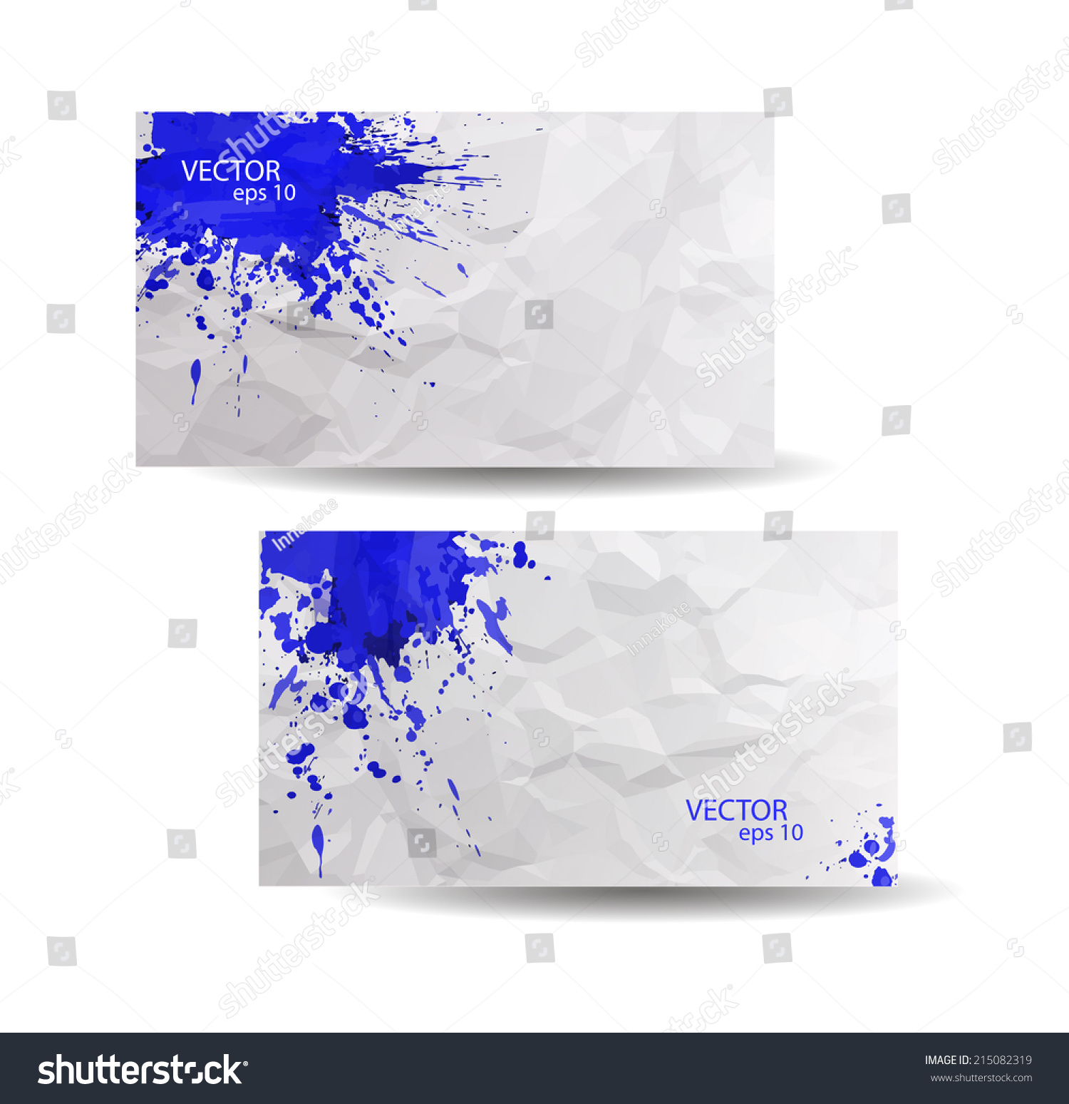Business cards template blue abstract spray stock vector 215082319 business cards template with blue abstract spray paint crumpled paper background hand drawn colourmoves