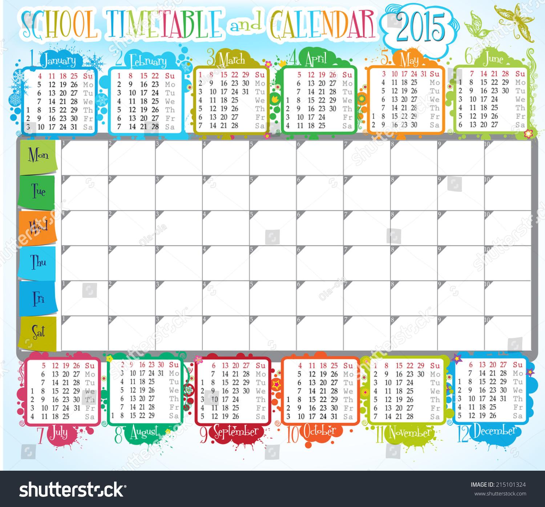 Pics Photos - Free Printable School Timetable And School Scrabpooking ...