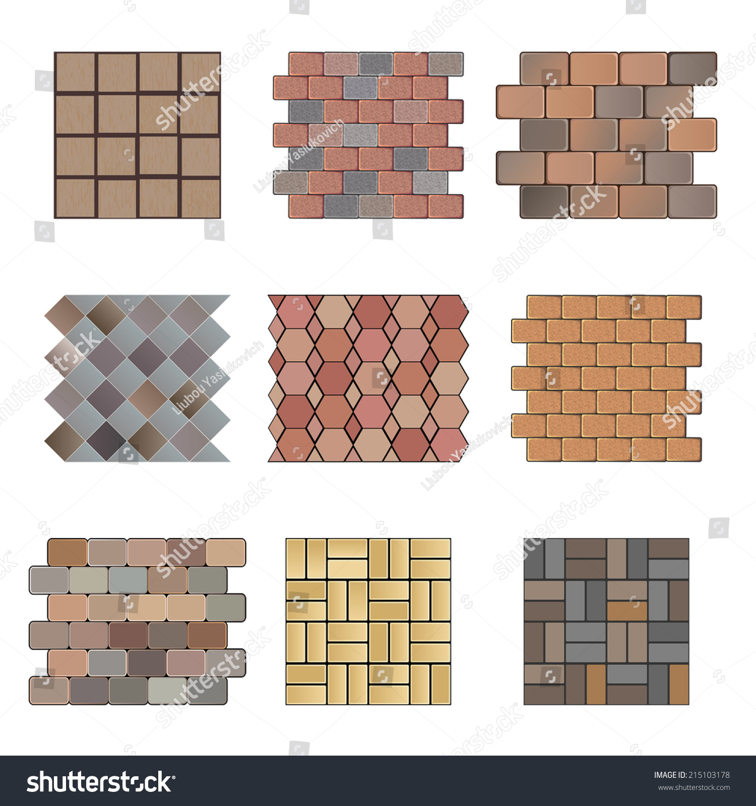 Detailed Landscape Design Elements Make Your Stock Vector 215103178 Shutterstock