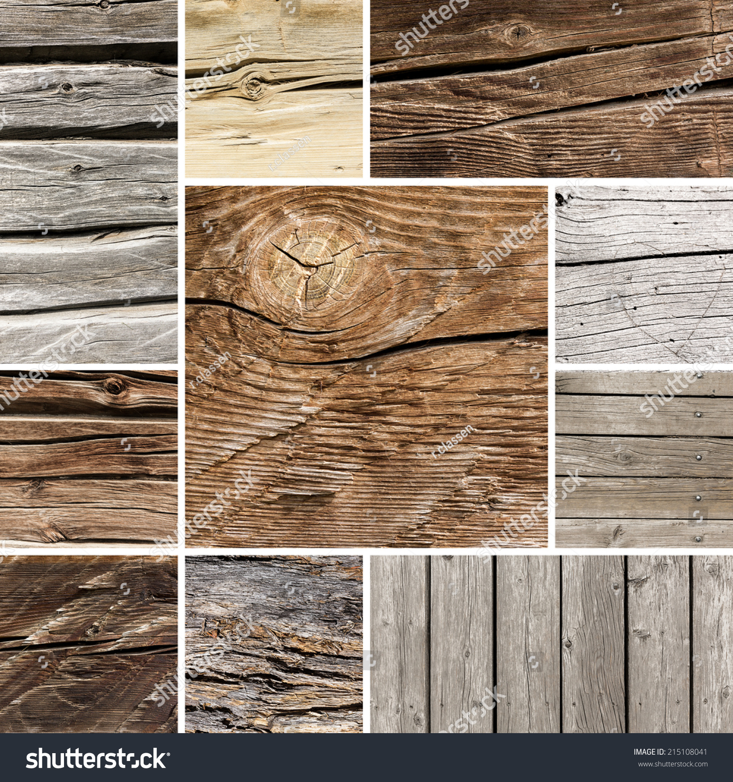 Old Wood Board Plank Texture Collage Stock