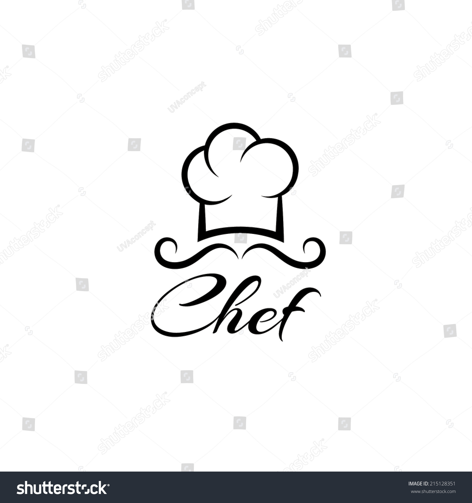 chef vector design template stock vector royalty free 215128351