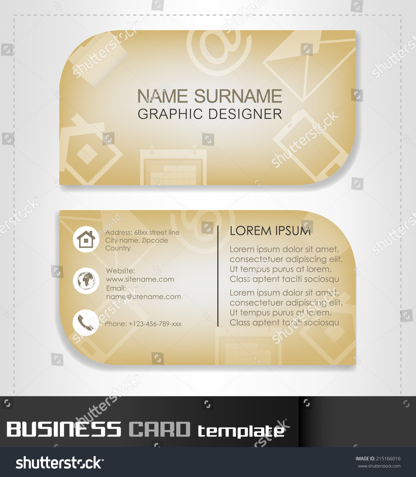 business card template visiting cardvector illustration stock