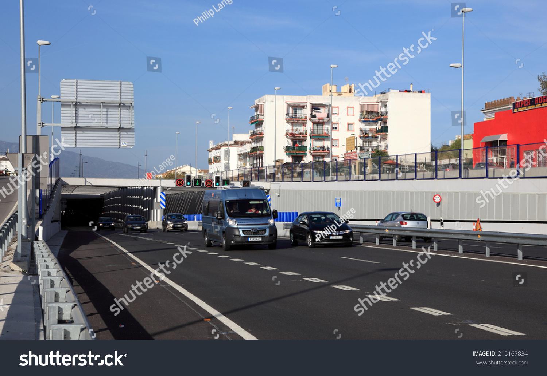 San Pedro de Alcantara Spain  city photo : san pedro spain april new highway tunnel in san pedro de alcantara ...