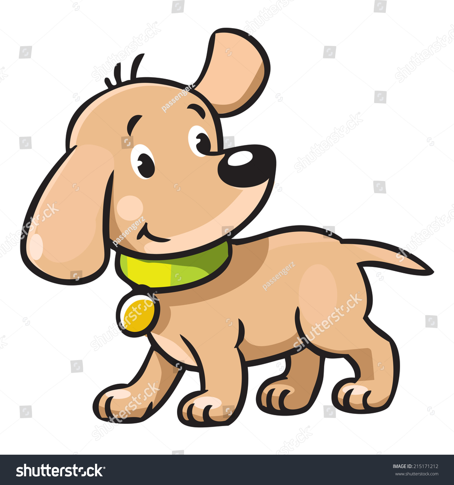Children Vector Illustration Funny Little Dog Stock Vector 215171212 ...