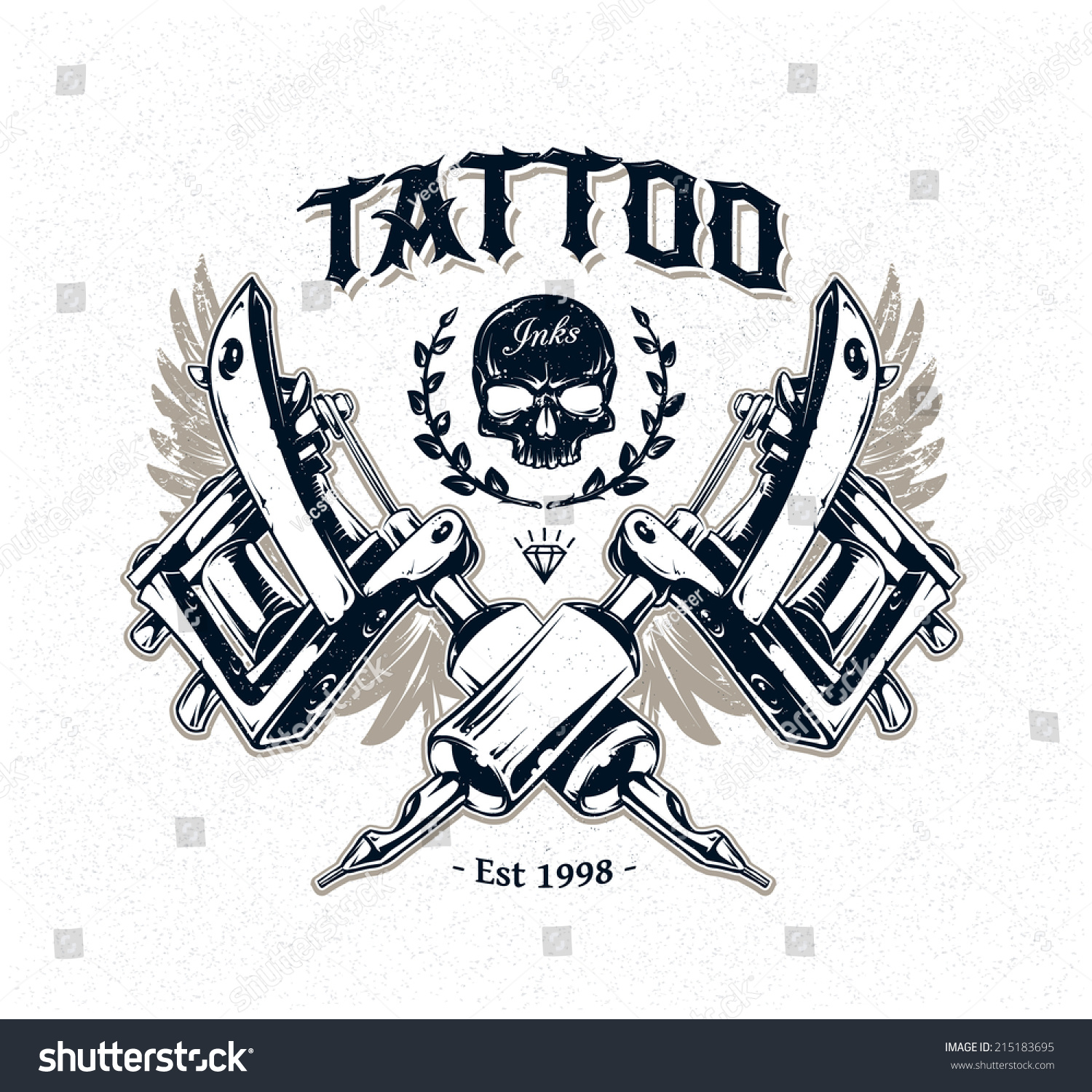 tattoo machine logo designs the image kid has it. Black Bedroom Furniture Sets. Home Design Ideas