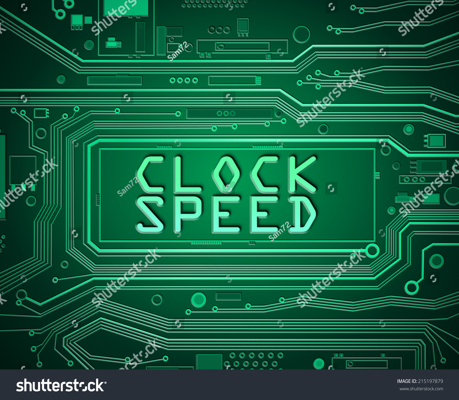 Blockchain Style On Green Background Ez Canvas Of Printed Circuit Board Illustration A