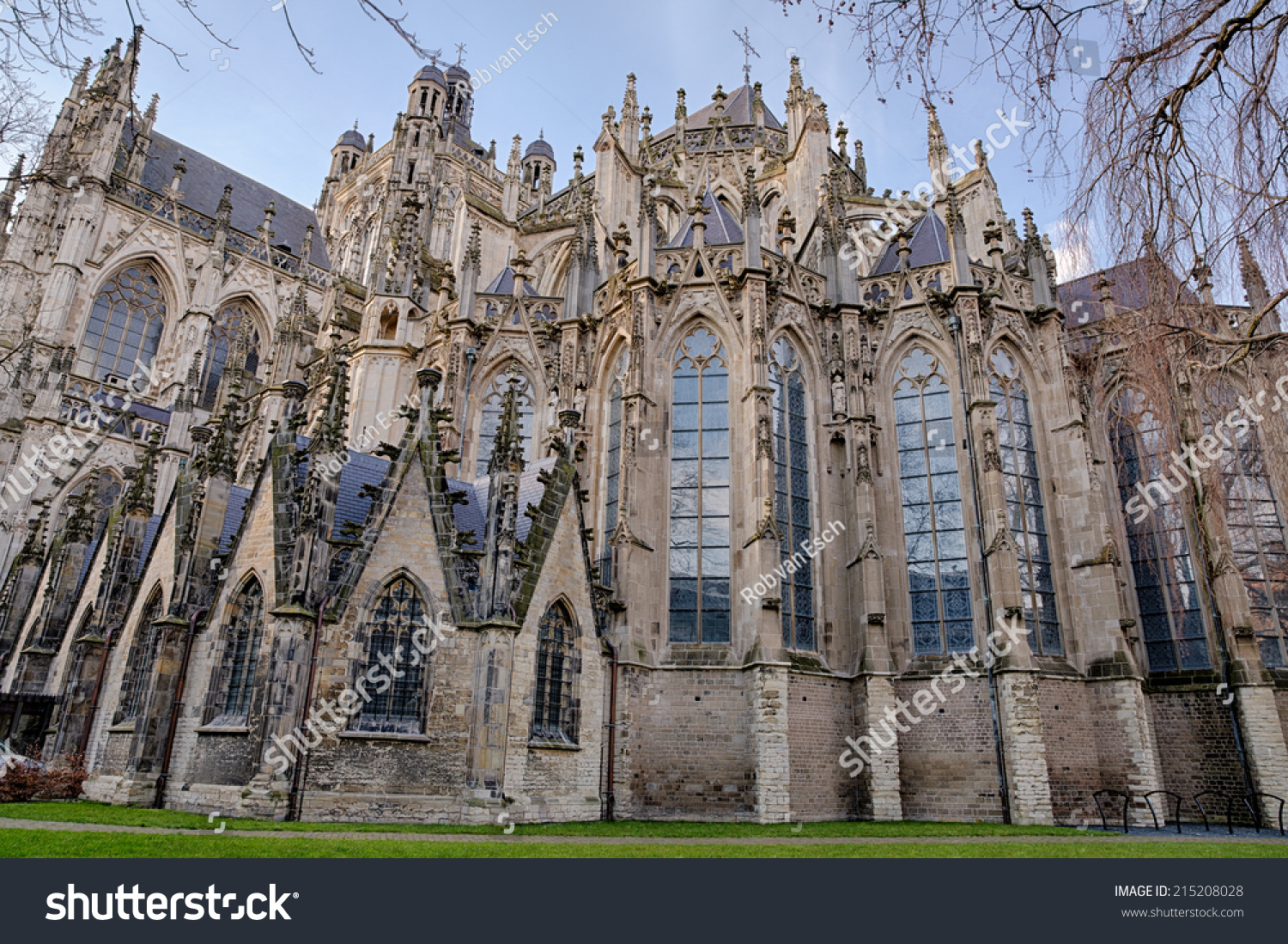 Exterior Gothic Medieval Cathedral Saint John Stock Photo Royalty Free 215208028