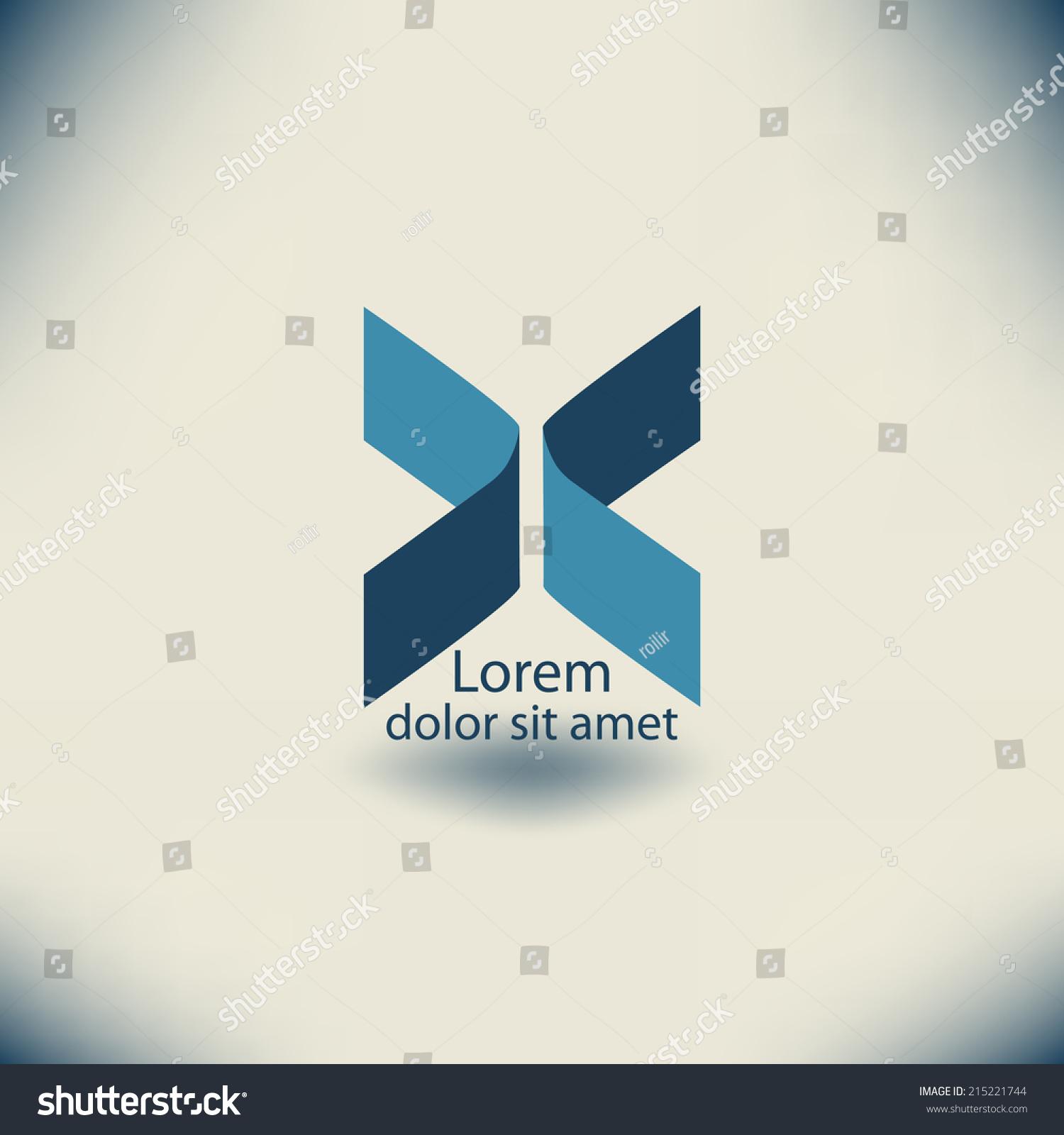 abstract vector logo design template business stock vector