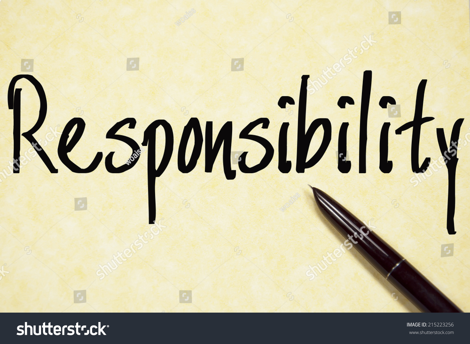 Paper about responsibility