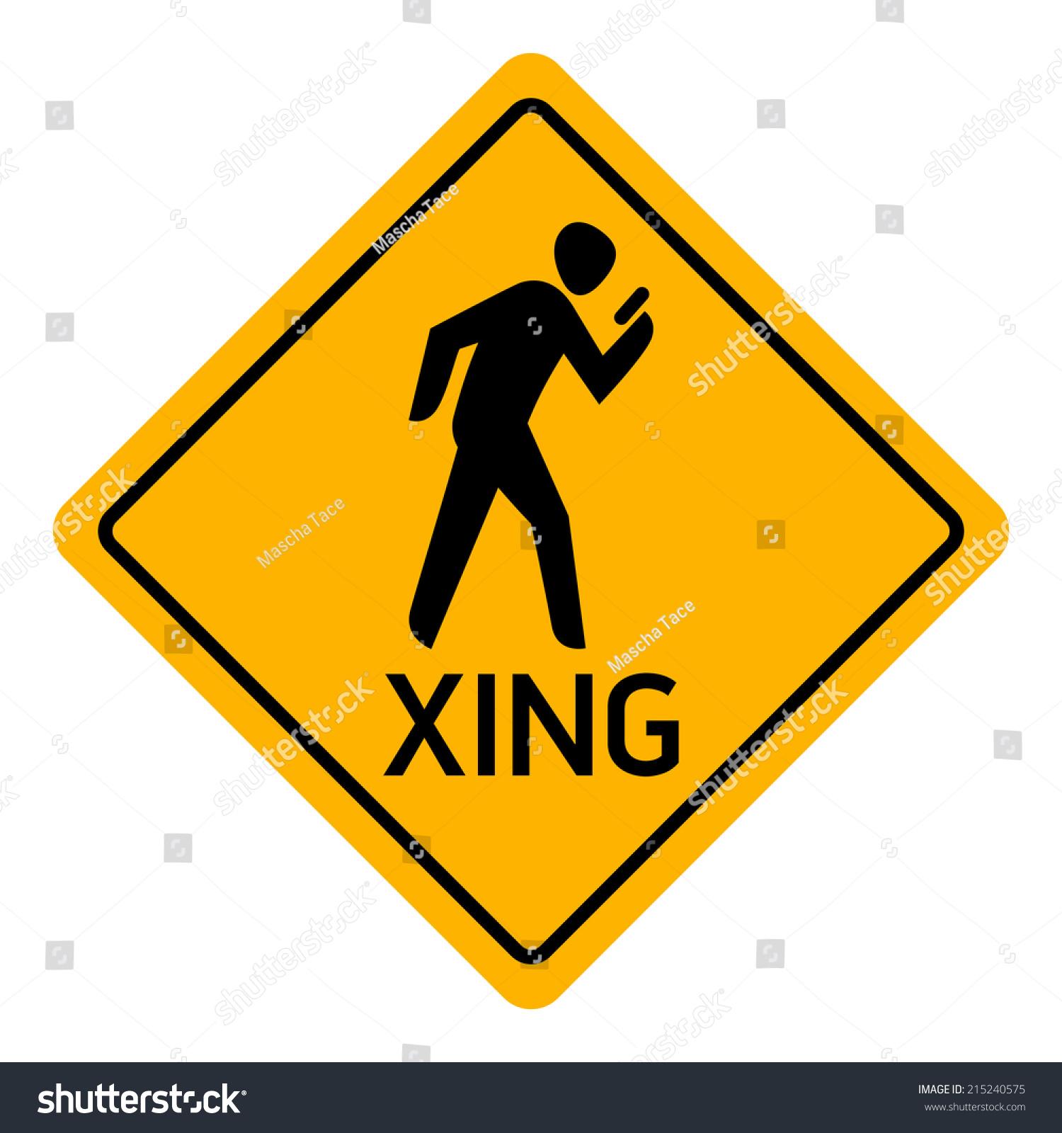 Vector Icon Pedestrian Using His Cell Stock Vector 215240575 ...