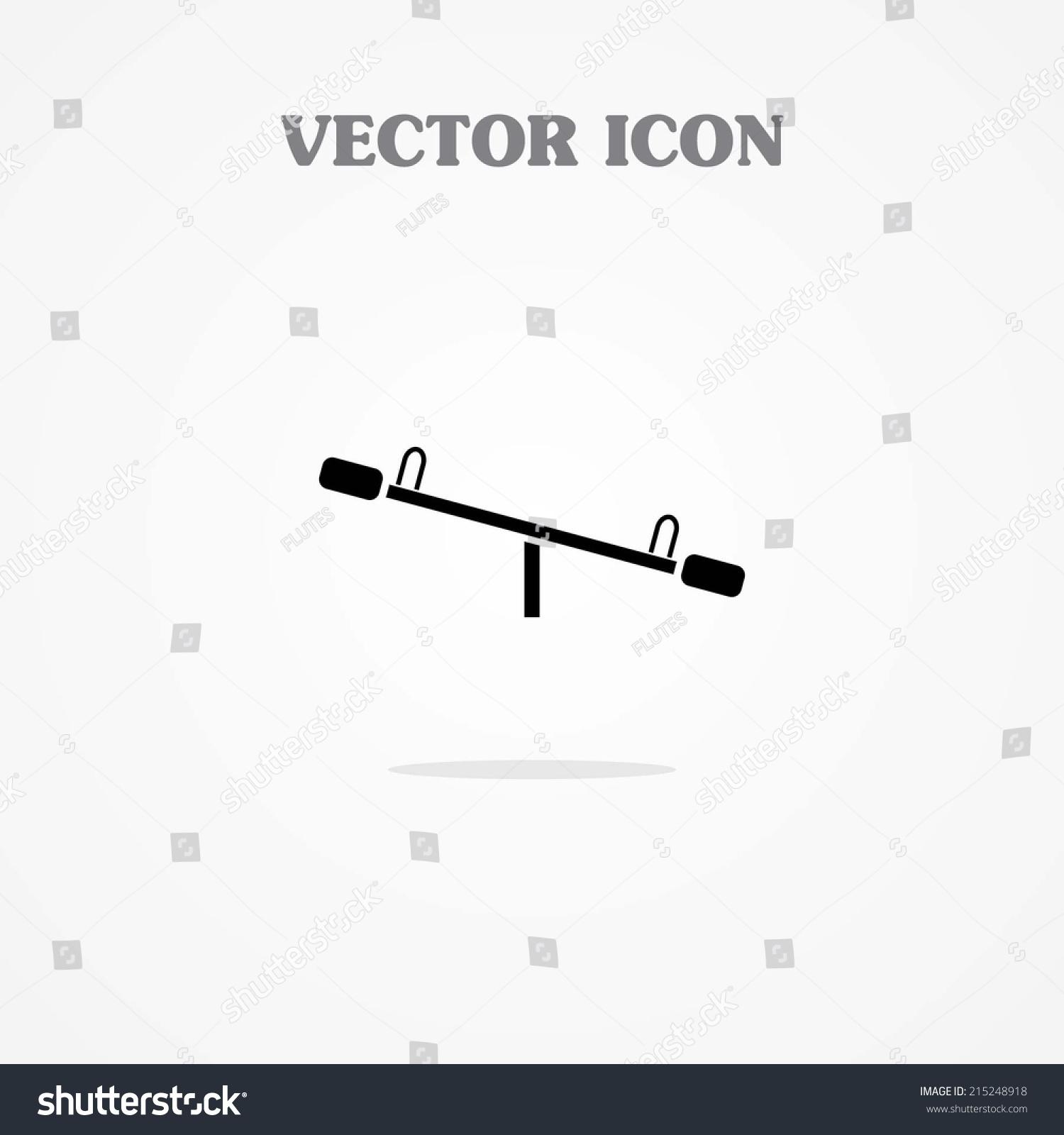 Seesaw Icon Vector de stock (libre de regalías)215248918 ... on