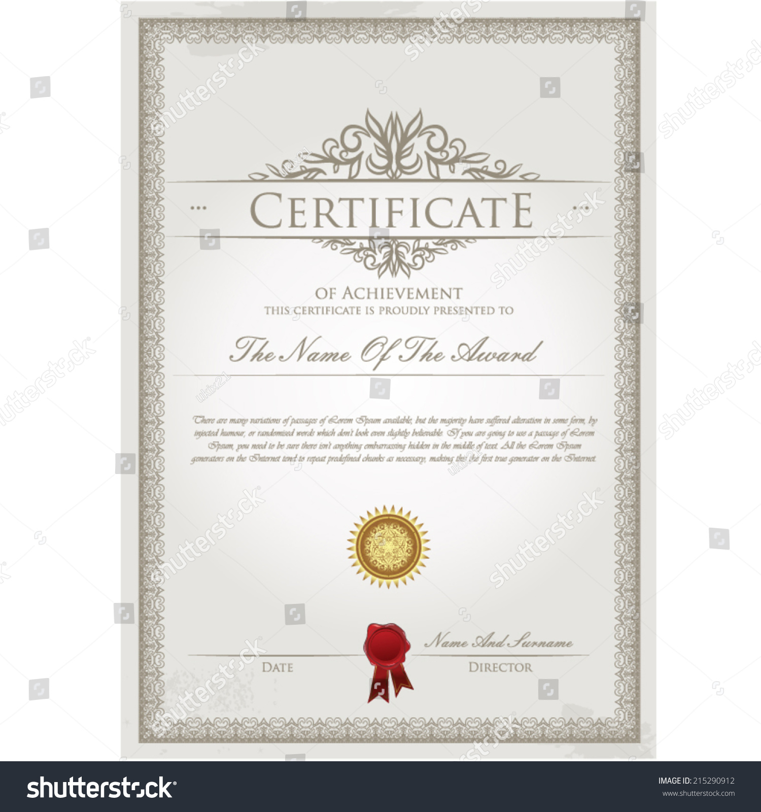 certificate template paralegal resume objective examples tig certificate template vector stock vector 215290912 shutterstock stock vector certificate template vector 215290912 stock vector certificate