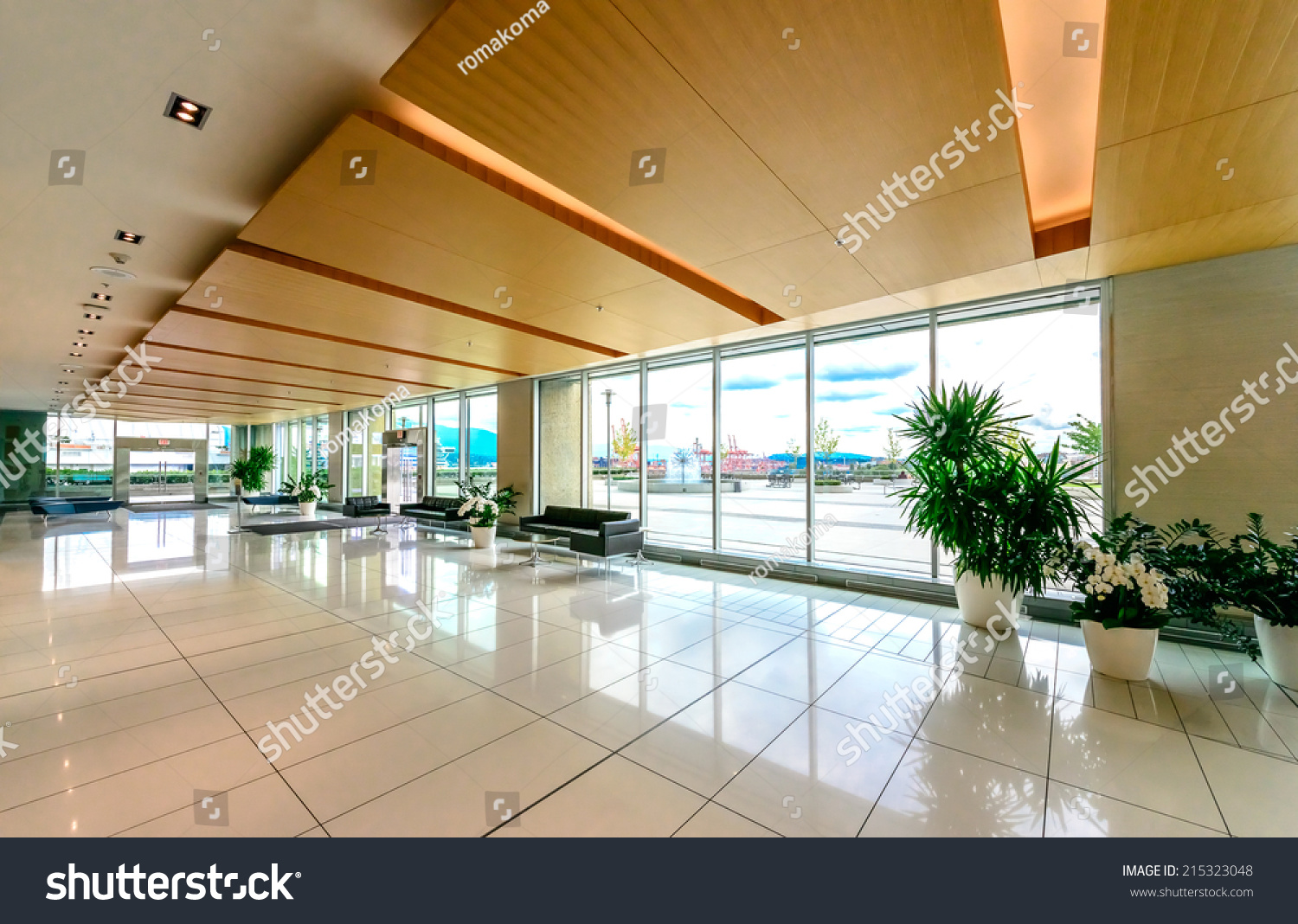 Business Foyer Design : Modern lobby hallway plaza five stars stock photo