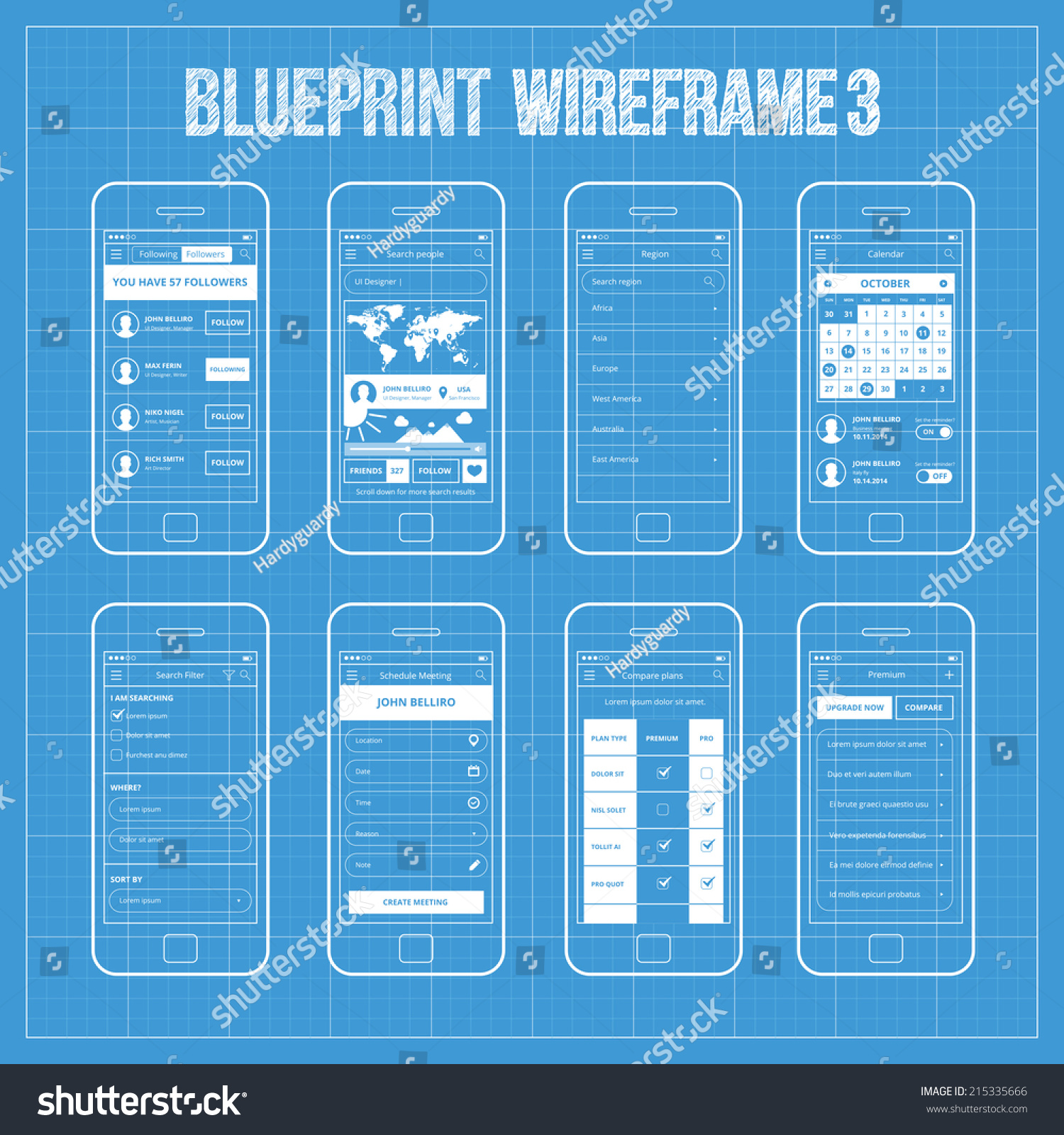 Template mobile application interface design stock vector 50 free 40 awesome mobile app malvernweather Gallery