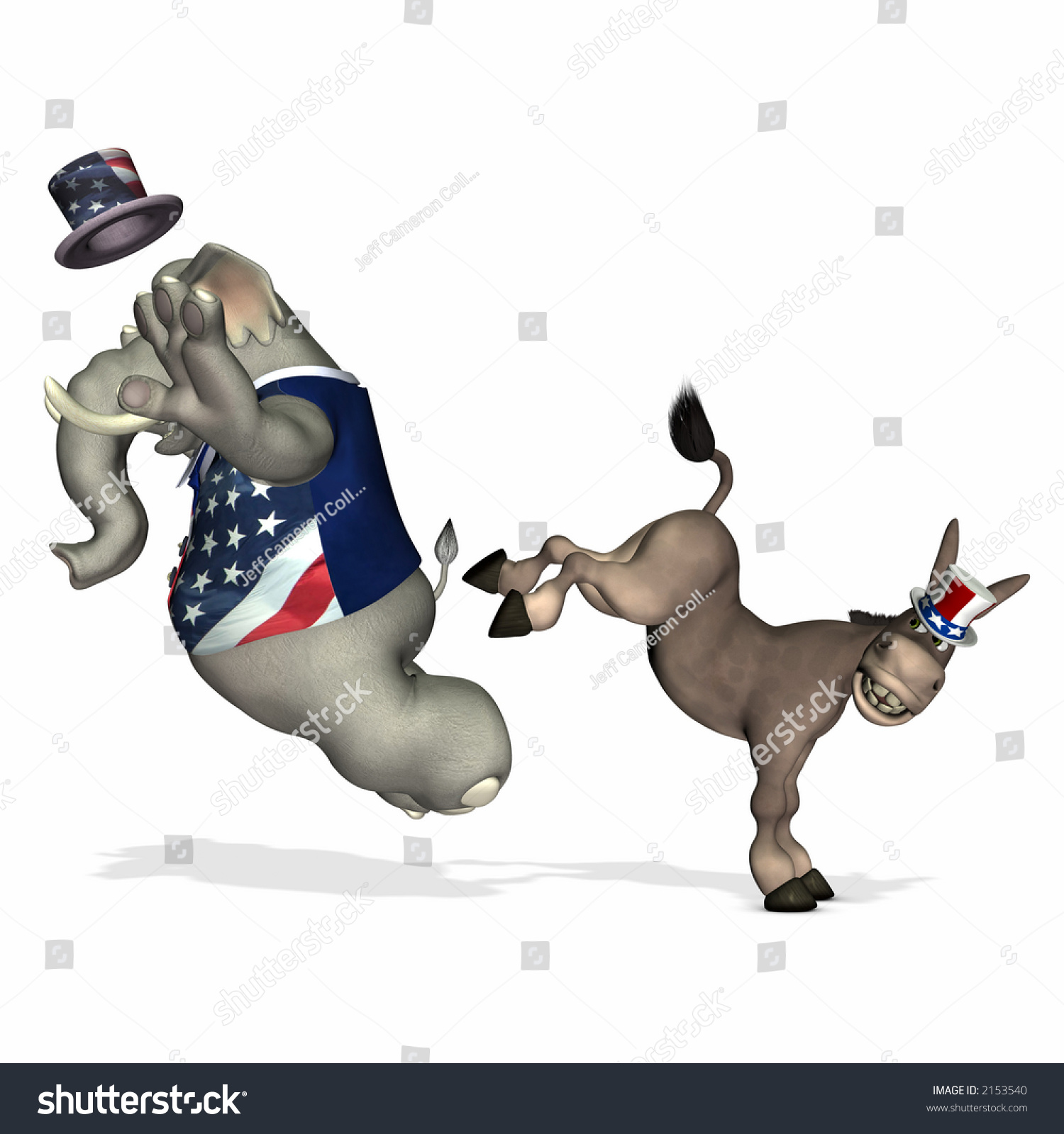 https://image.shutterstock.com/z/stock-photo-democrat-represented-by-a-donkey-kicking-the-republican-represented-by-an-elephant-political-humor-2153540.jpg