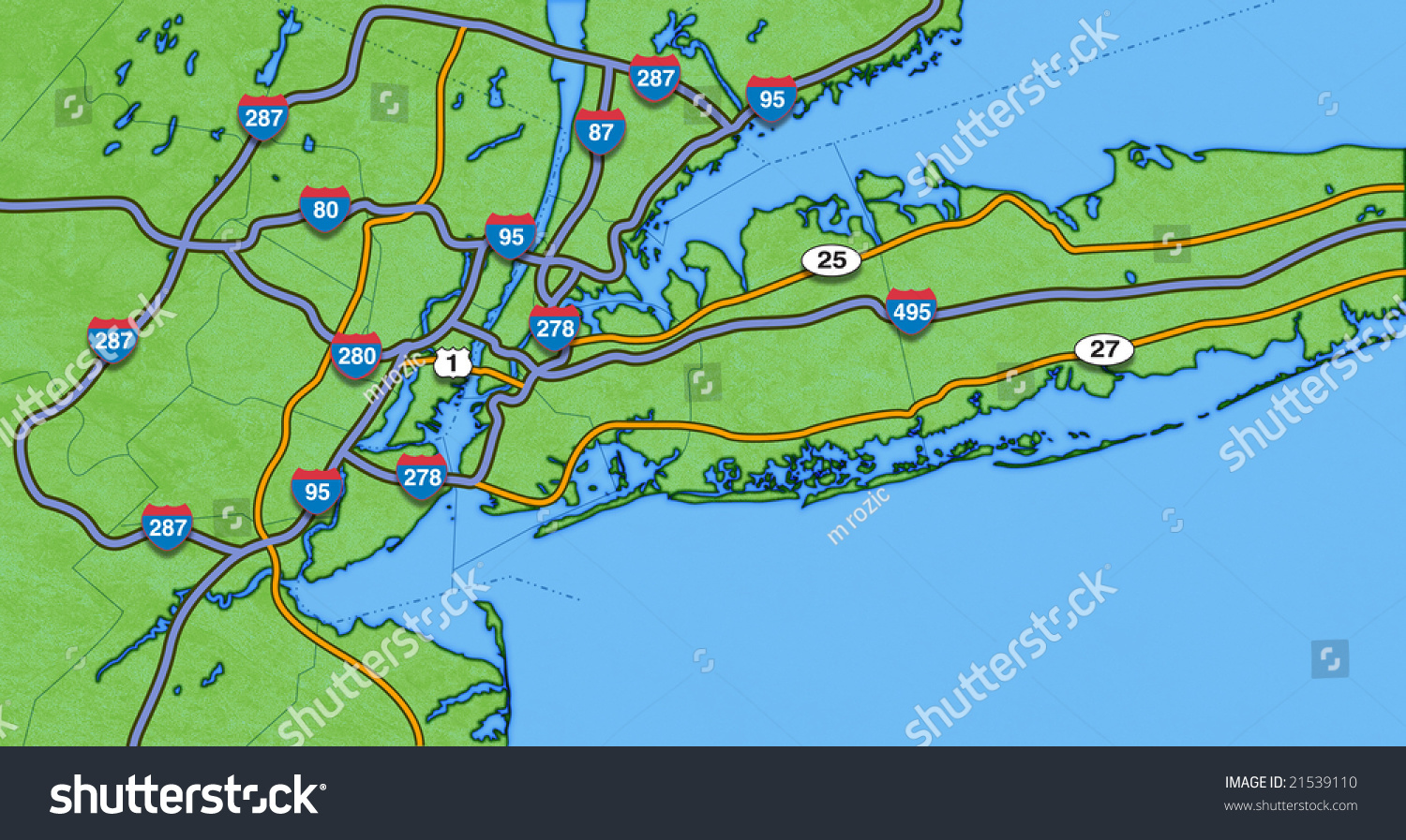 Map Of New York City And Surrounding AreaReady For