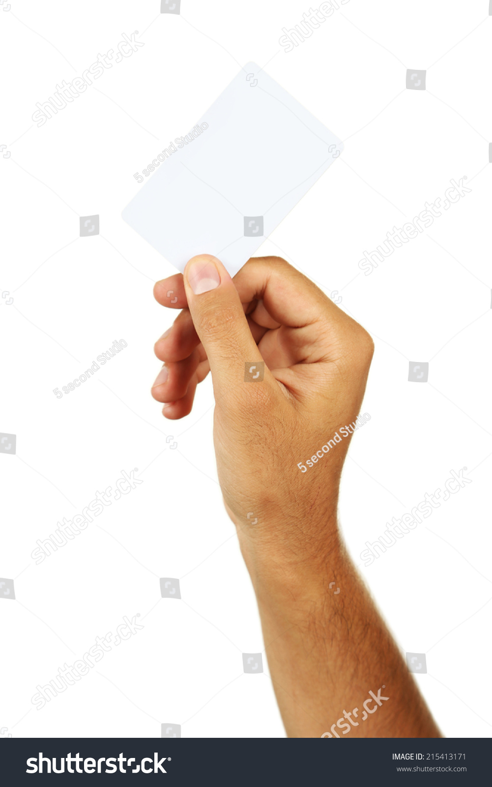 Hand Holding Business Card Stock Photo (100% Legal Protection ...