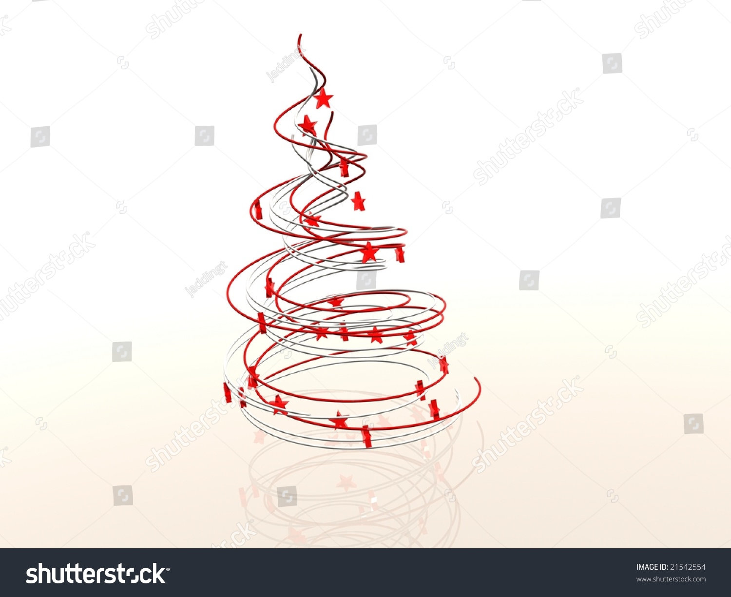 wire frame modern abstract christmas tree