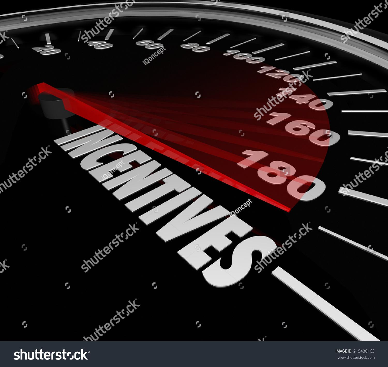 incentives word speedometer advertise special money stock illustration 215430163 shutterstock. Black Bedroom Furniture Sets. Home Design Ideas