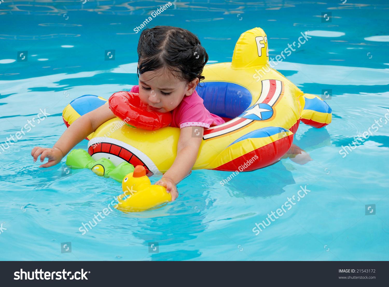 Sweet girls swim pool pity