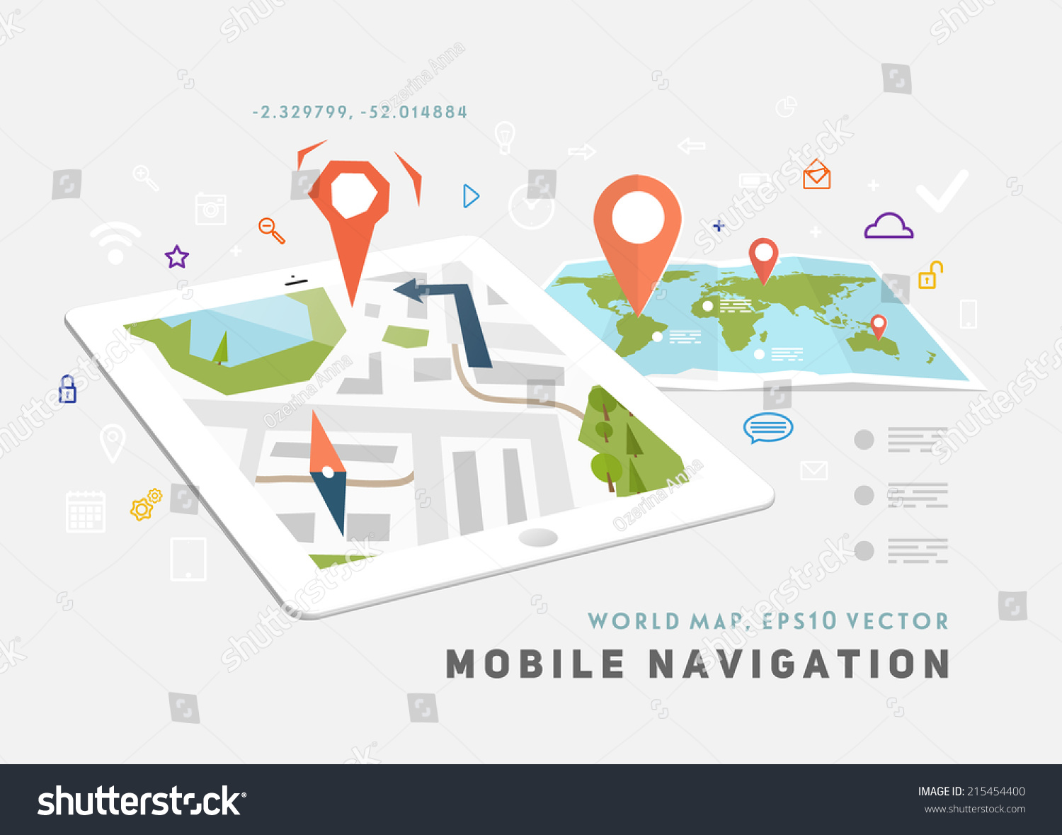 World map mobile gps navigation tablet vectores en stock 215454400 world map mobile gps navigation tablet pc mobile technologies concept gumiabroncs Gallery