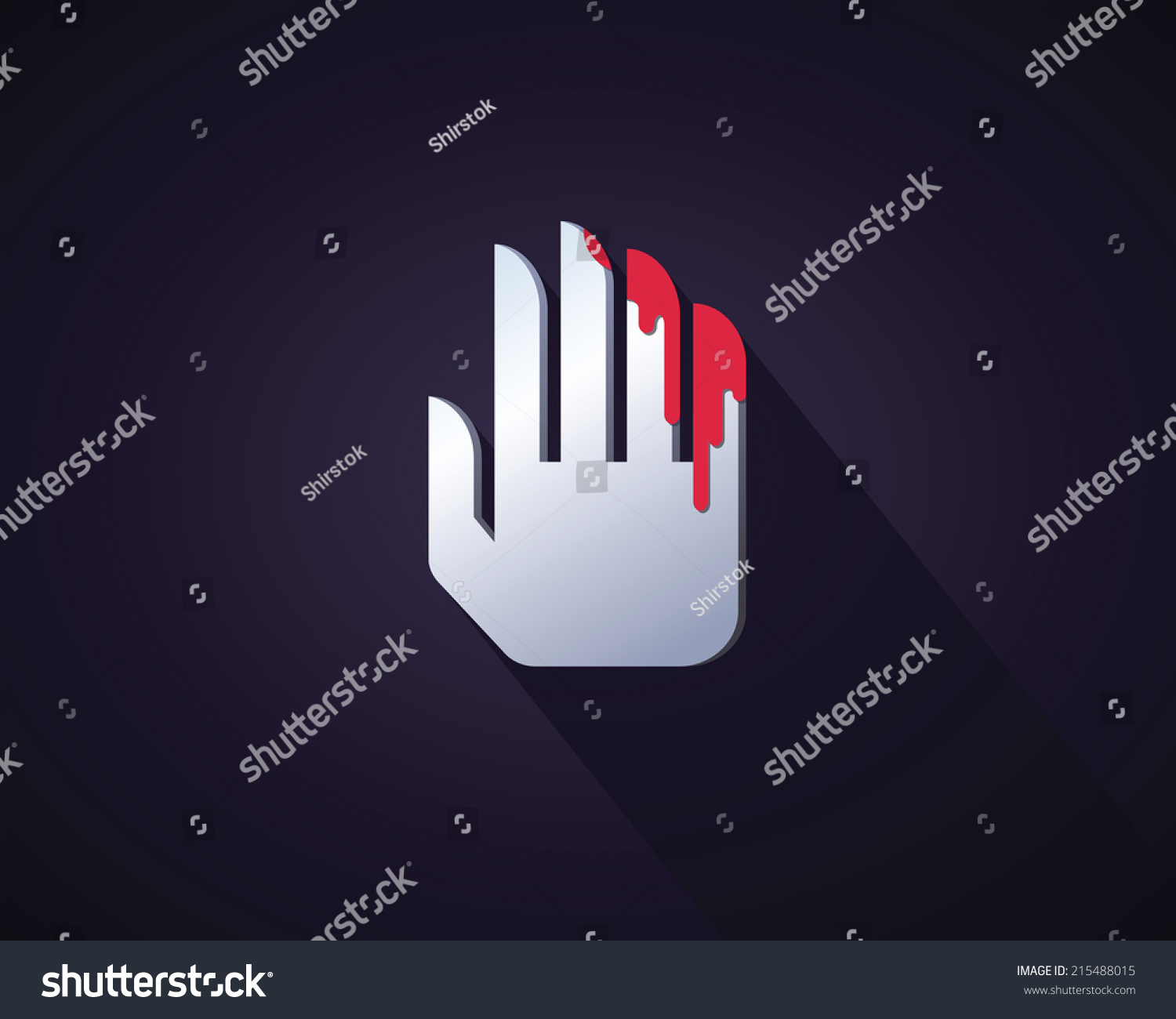 Abstract icon bloody hand symbol violence stock vector 215488015 abstract icon of bloody hand as symbol of violence and cruelty buycottarizona Choice Image