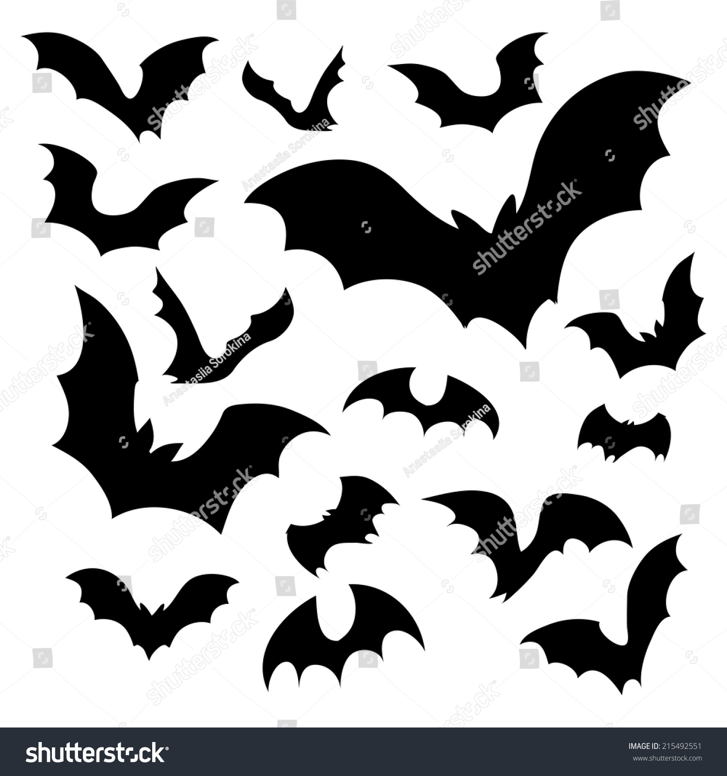 Swarm Of Bats Vector b...