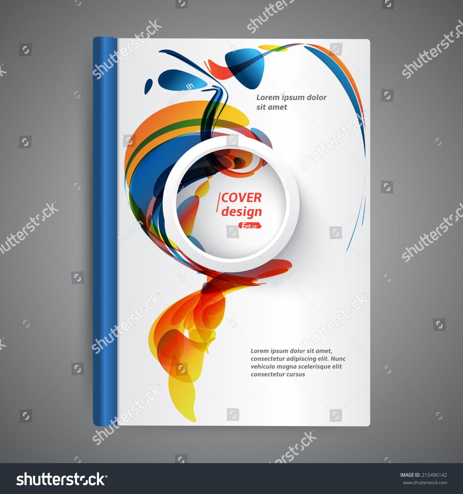 School Book Cover Design Templates : Abstract modern template book cover stock vector