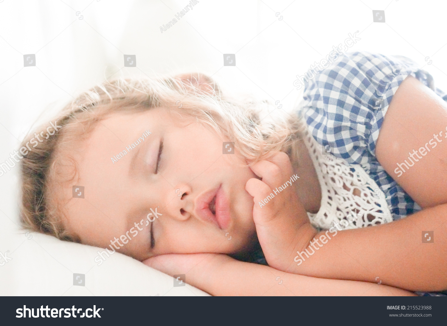cute sleeping baby girl stock photo (edit now) 215523988 - shutterstock