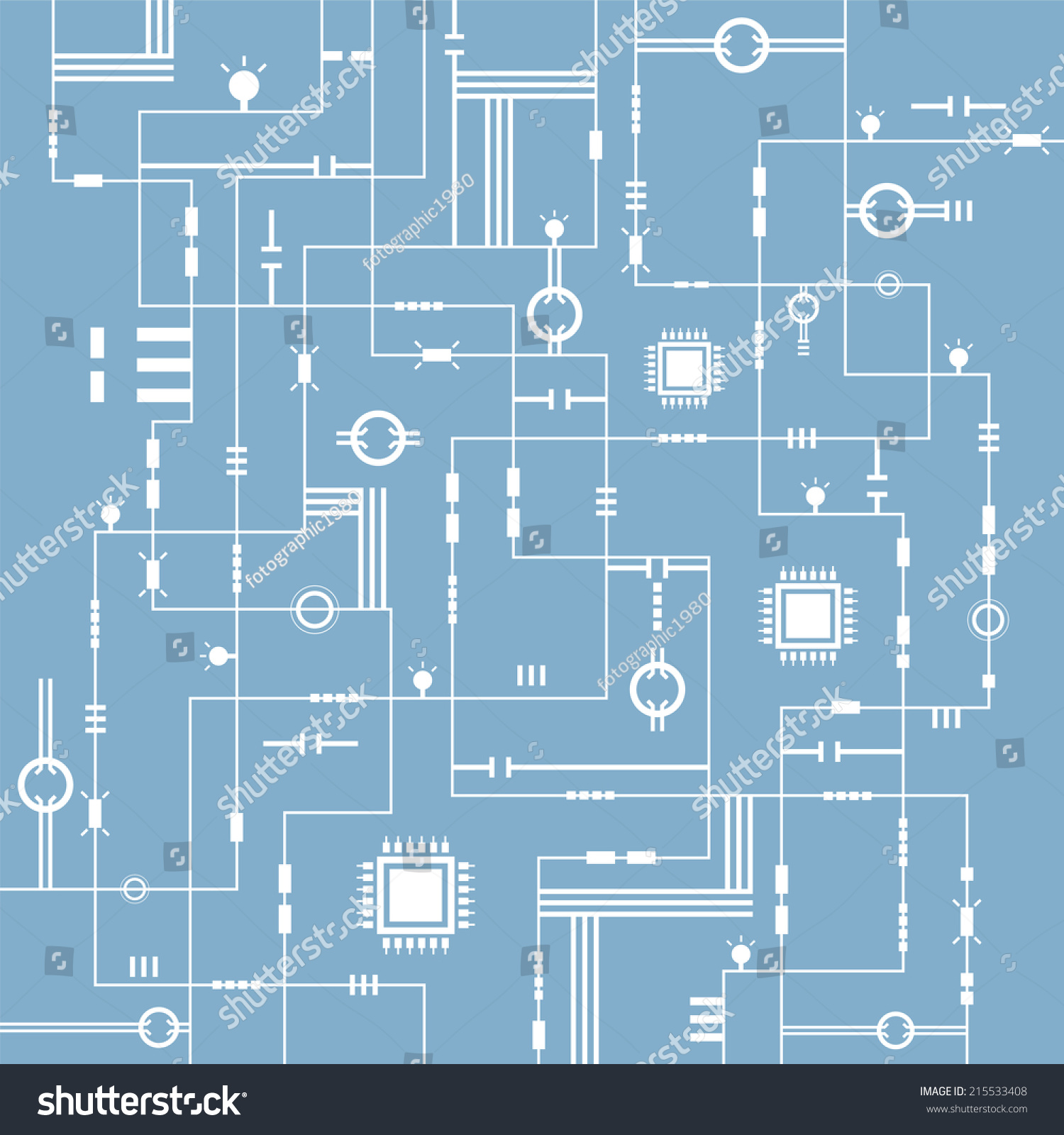 Abstract Technology Electric Circuit Background Vector Illustration Electronic Schematic Stock Photos Id 215533408