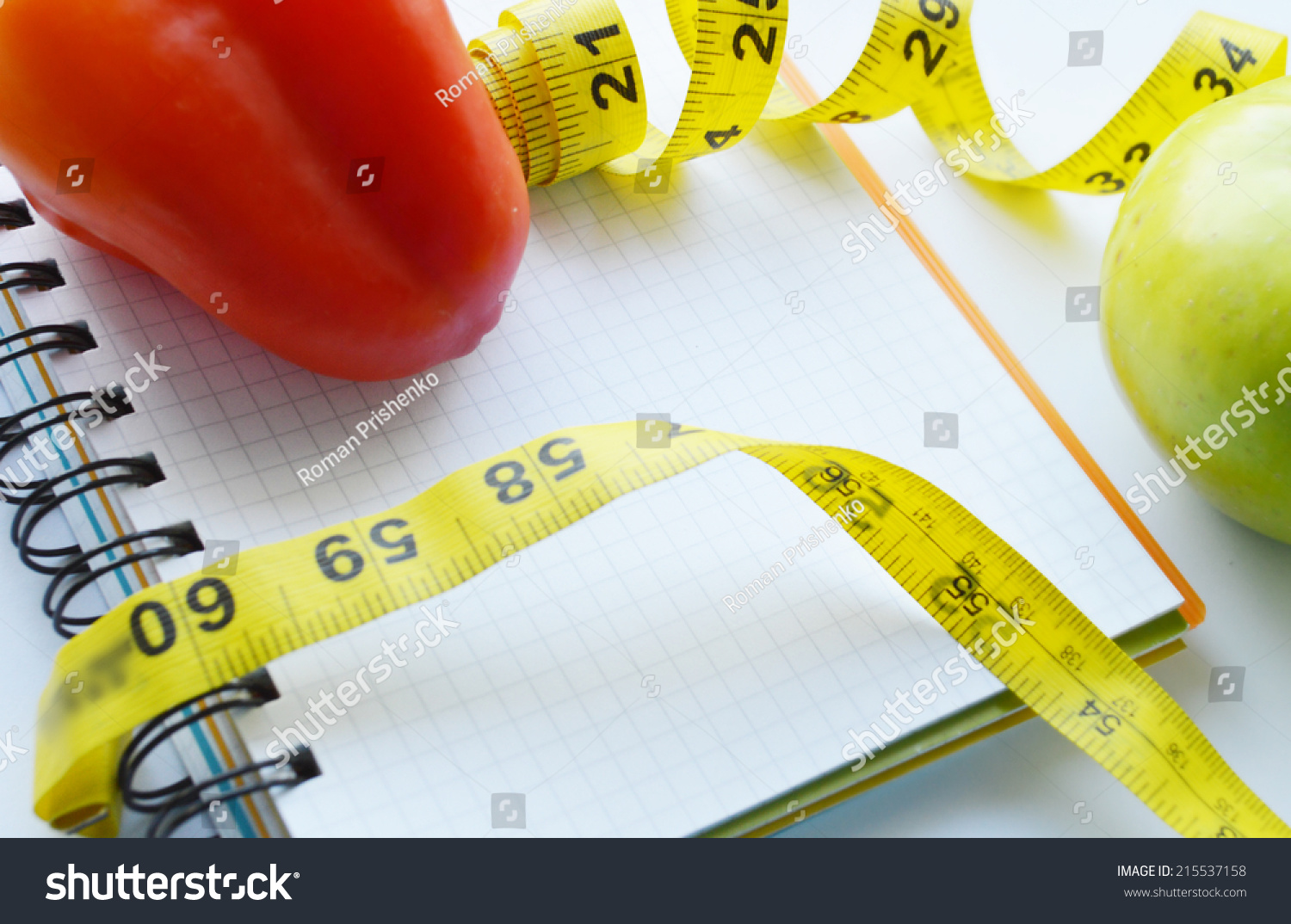 Terrific Vegetables Fruits Weight Loss Measuring Tape Stock Photo Download Free Architecture Designs Scobabritishbridgeorg